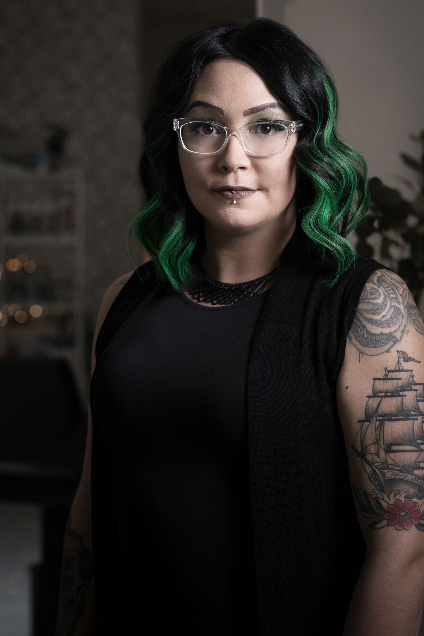 Headshot of Nikole, hair stylist at Vivid Hair Studio.